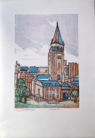 Linogravure Castellani - Saint-Germain des prés