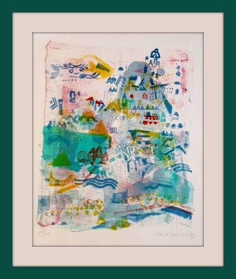 Lithographie Hasegawa - Saint-Nazaire