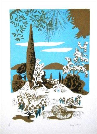 Lithographie Lartigue - Saint-Tropez (paysage)