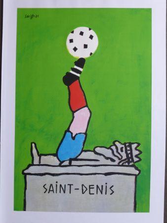 Affiche Savignac - Saint Denis (coupe du monde de football) 1998