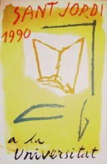 Lithographie Ràfols Casamada - Saint Jordi 1990