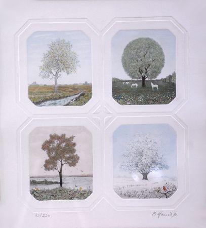 Eau-Forte Hauck - Saisons des Arbres - Season Trees