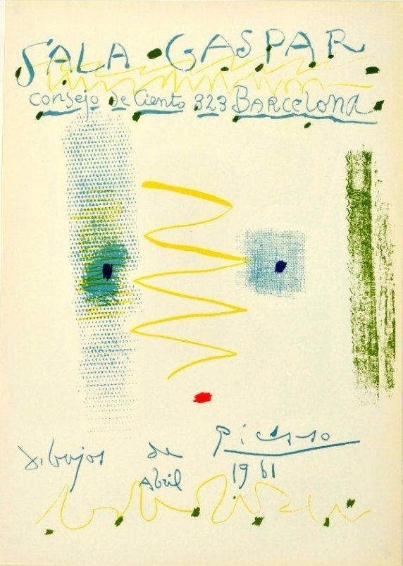 Lithographie Picasso - Sala Gaspar. Dibujos de Picasso