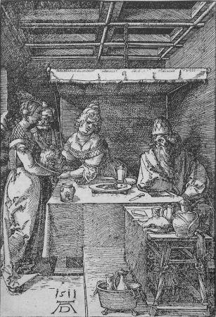 Gravure Sur Bois Durer - Salome Presenting the Head of John the Baptist to Herodias