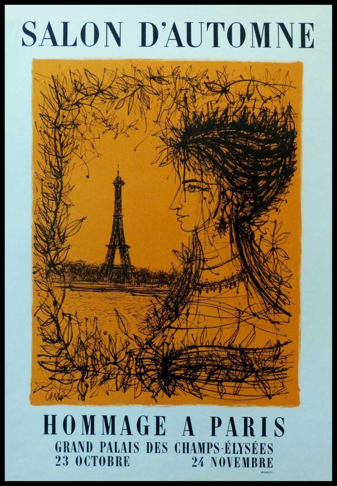 Affiche Carzou - SALON D'AUTOMNE HOMMAGE À PARIS