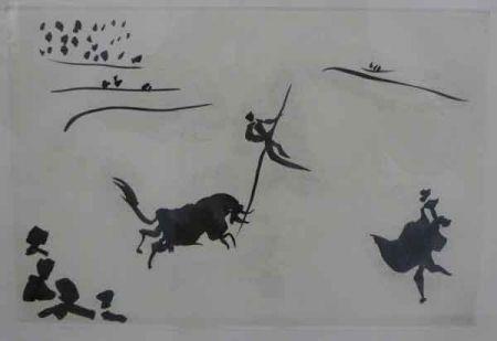 Aquatinte Picasso - SALTO A LA GARROCHA