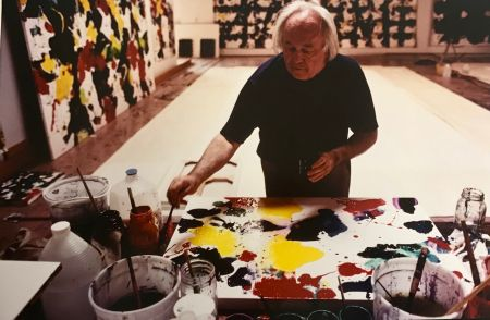 Photographie Blum - Sam Francis in his studio