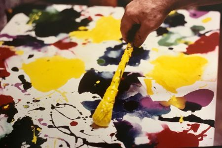 Photographie Blum - Sam Francis painting (close up)