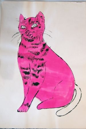 Lithographie Warhol - Sam (pink with white tail)