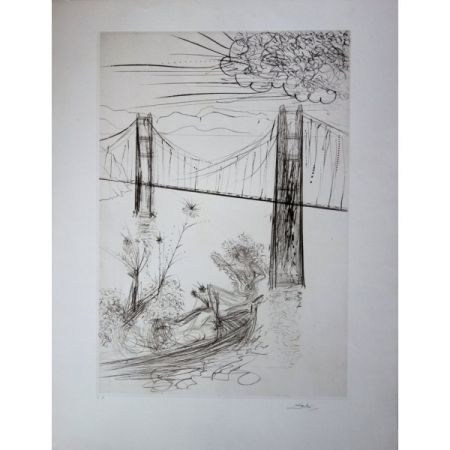 Gravure Dali - San Francisco : Golden Gate Bridge