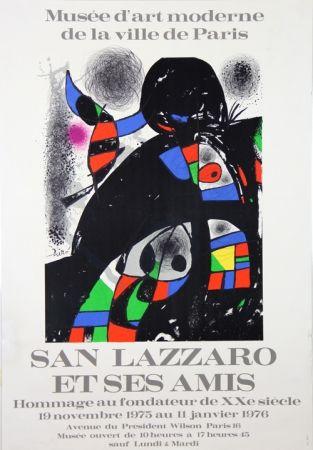 Lithographie Miró - Sans Lazzaro et ses Amis