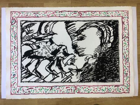Lithographie Alechinsky - Sans l'ecorce