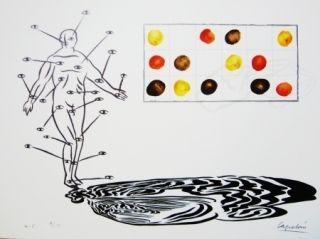 Lithographie Capelan - Sans titre