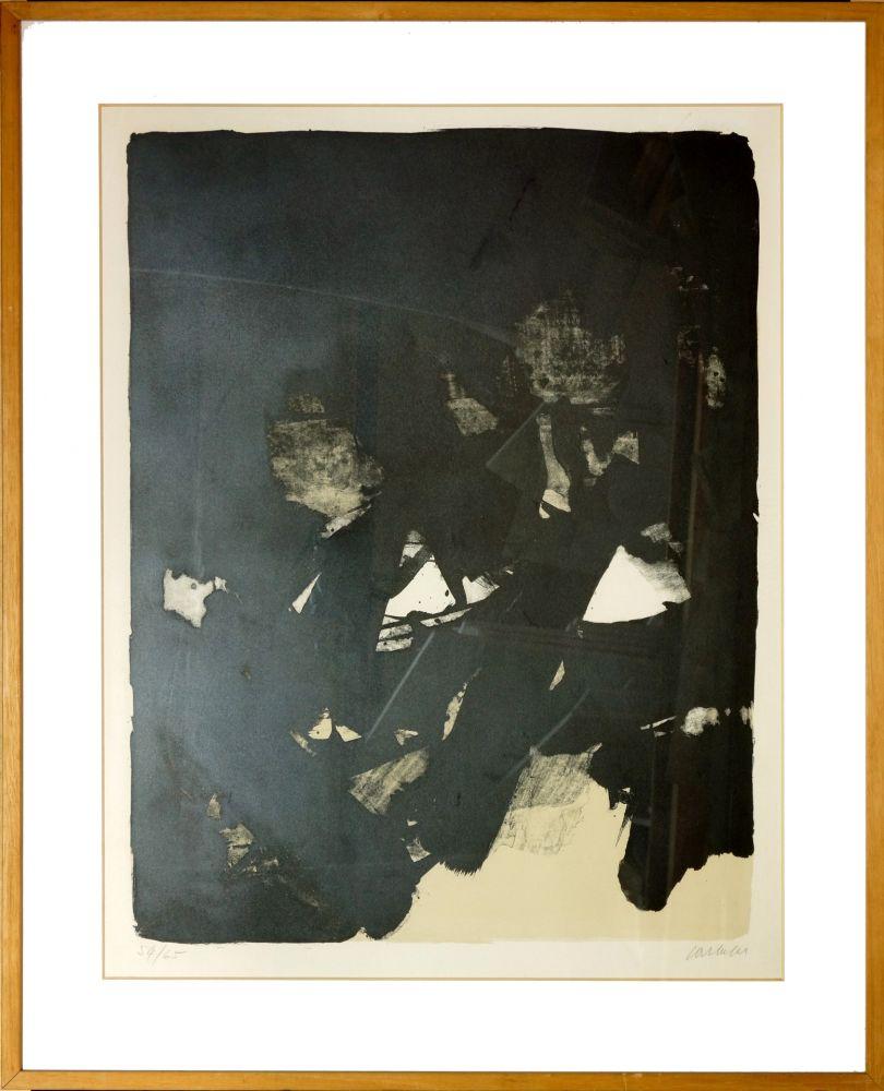 Lithographie Soulages - Sans titre