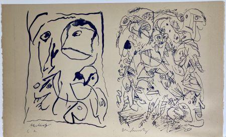 Lithographie Alechinsky - Sans titre.