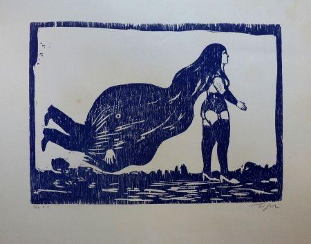 Linogravure Topor - Sans titre