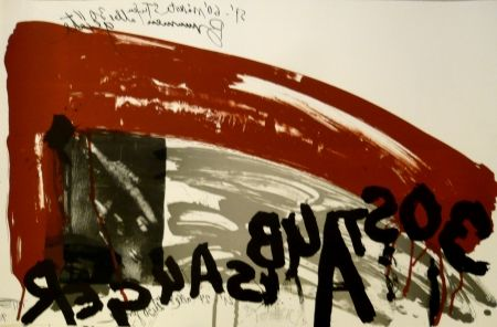Lithographie Vostell - Sans titre