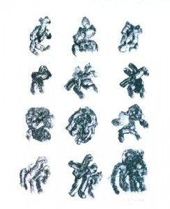 Lithographie Michaux - Sans titre