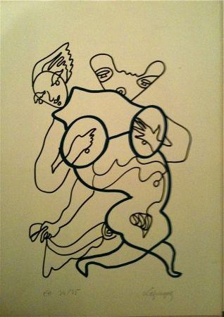 Lithographie Lapicque - Sans Titre