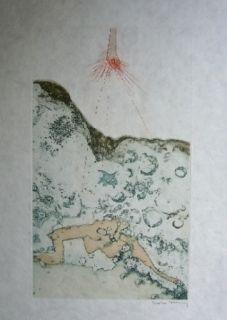 Aquatinte Tanning - Sans titre