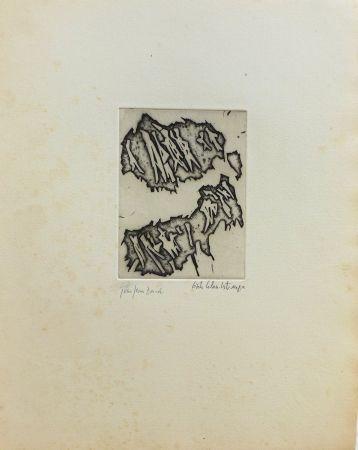 Gravure Celan Lestrange - Sans titre