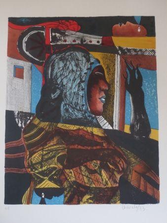 Lithographie Arevalo - Sans titre