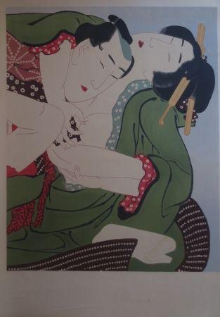Lithographie Utamaro - Sans titre
