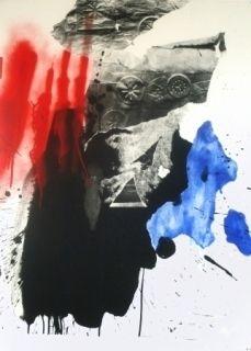 Lithographie Clavé - Sans Titre