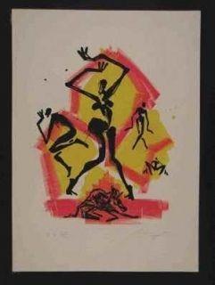 Lithographie Leiberg - Sans titre
