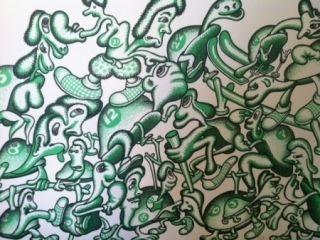 Lithographie Saul - Sans Titre