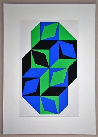 Sérigraphie Vasarely - Sans titre