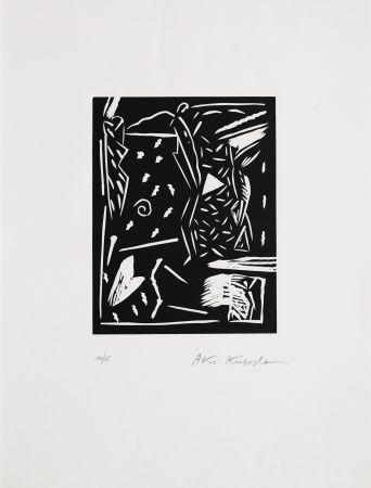 Linogravure Kuroda - Sans titre