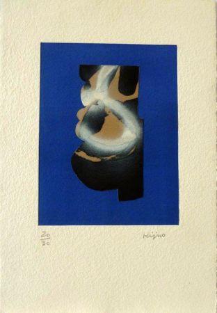 Lithographie Kijno - Sans titre