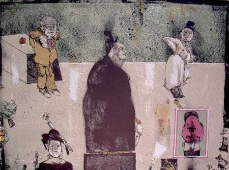 Lithographie Cuevas - Sans Titre