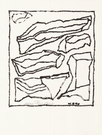 Lithographie Pincemin - Sans titre