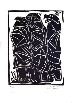 Linogravure Gérédakis - Sans titre 1