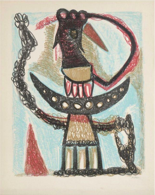 Lithographie Atlan - Sans titre, 1953