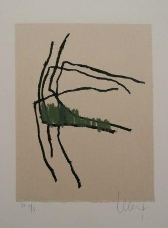 Lithographie Le Saëc - Sans Titre 1 réhaussée (2011)