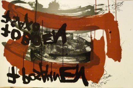 Lithographie Vostell - Sans titre 4
