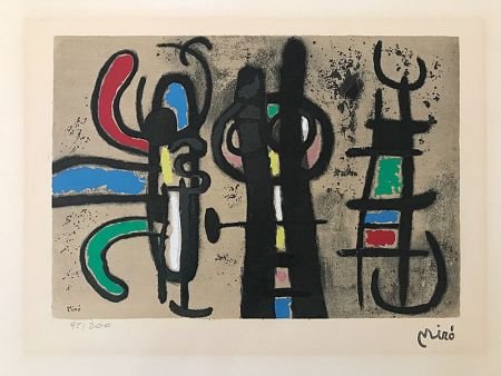 Pochoir Miró (After) - Sans titre II