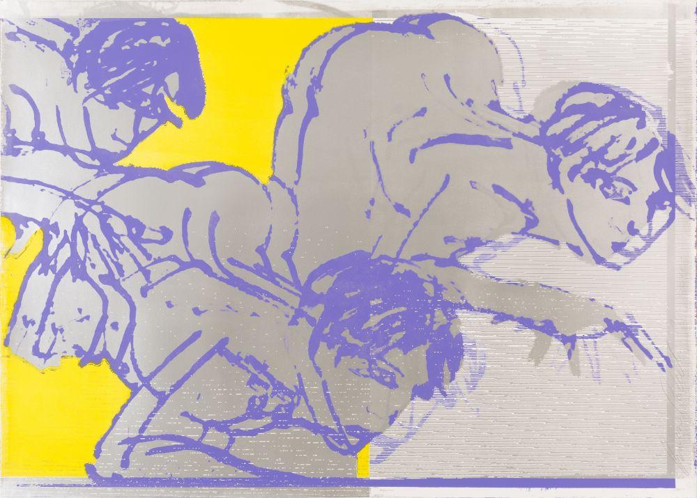 Lithographie Castelli - Sans titre (Silver Version)