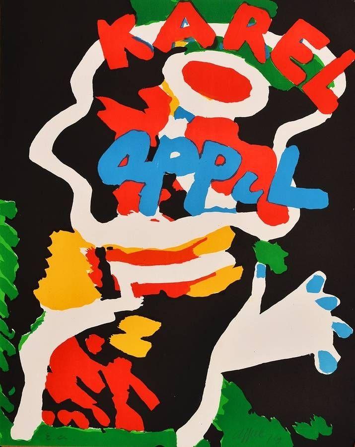 Lithographie Appel - Sans titre / Untitled