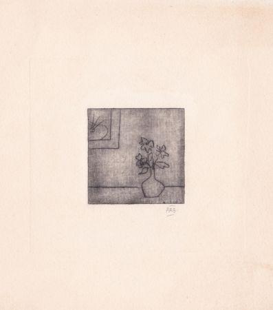 Gravure Benoit - Sans titre [Vase]