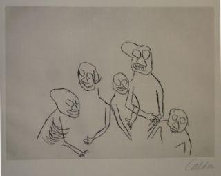 Gravure Calder - Santa Klaus 5