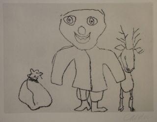 Gravure Calder - Santa Klaus 9