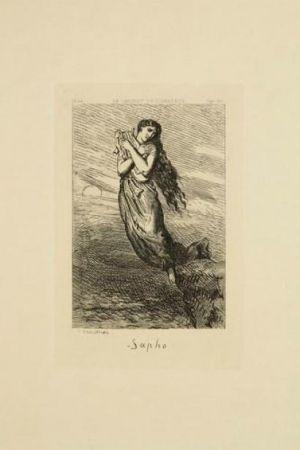 Gravure Chassériau - Sapho