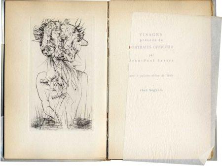 Livre Illustré Wols - SARTRE (Jean-Paul). Visages.