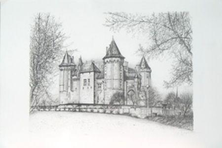 Lithographie Carzou - Saumur