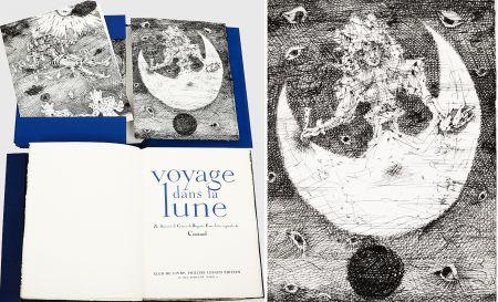 Livre Illustré Coutaud - Savinien CYRANO DE BERGERAC : VOYAGE DANS LA LUNE. Eaux-fortes originales de Coutaud.