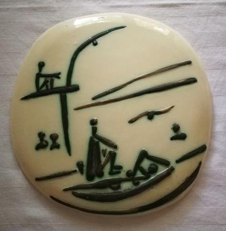 Céramique Picasso - Scene de plage